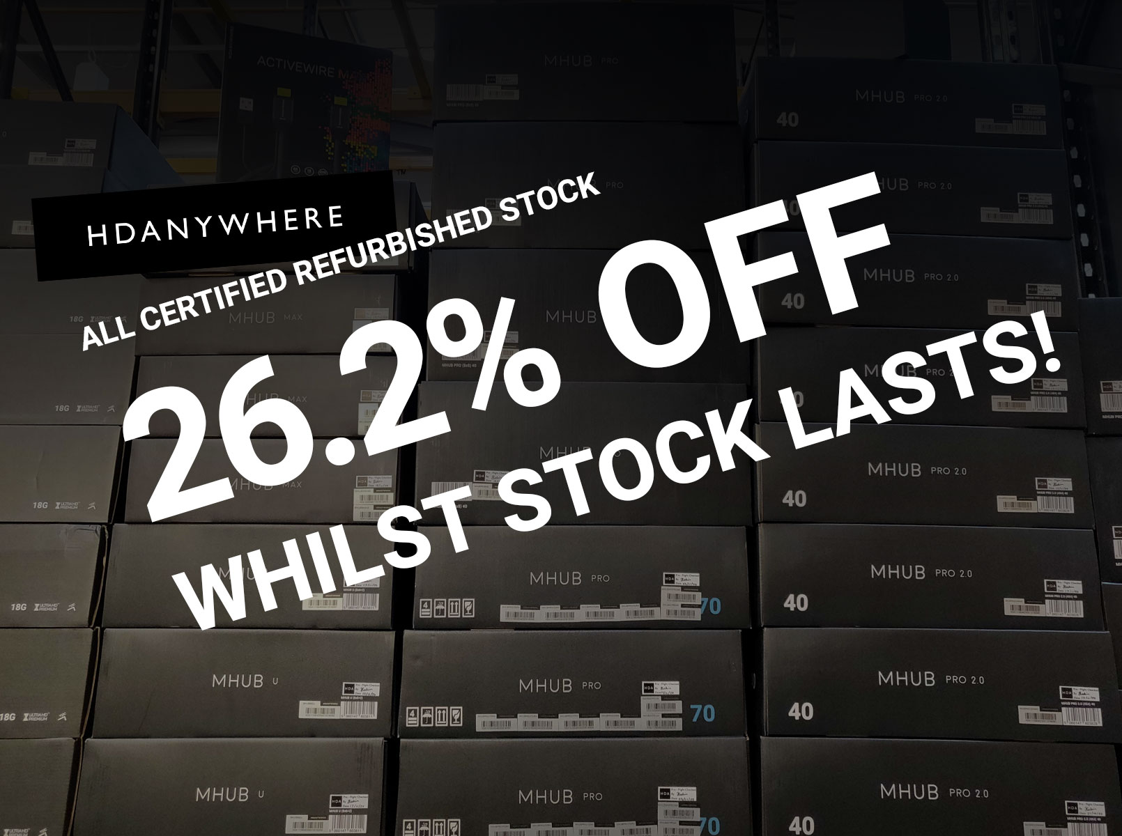 ALL refurb products are now reduced by a crazy 26.2%